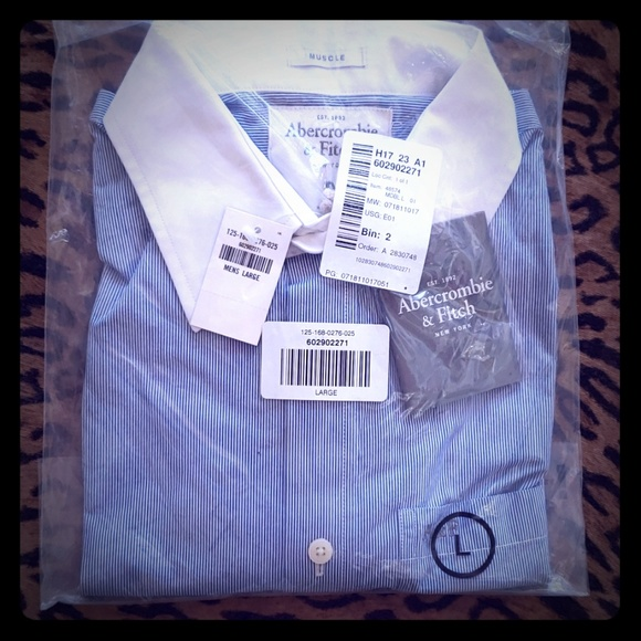 Abercrombie & Fitch Other - NWT ABERCROMBIE collar shirt MUSCLE L